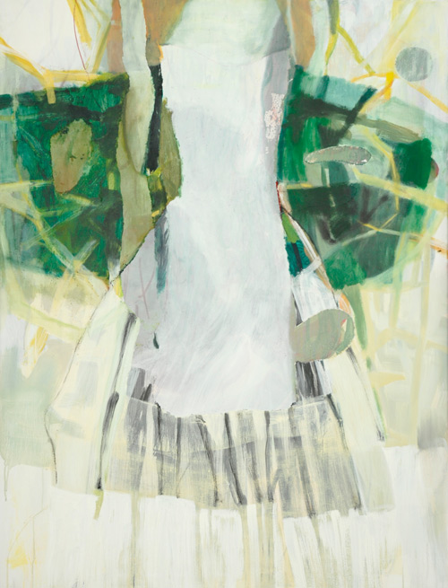 2014_2015-Kleid-aus-Nichts--145x110-Applikation,-Eitempera,-Oel-Nessel